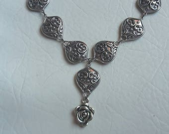 Rose necklace/ bib necklace