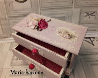 """Convenient jewelry """"Flowers Roses"""" Shabby little vintage shabby painted wood furniture"""