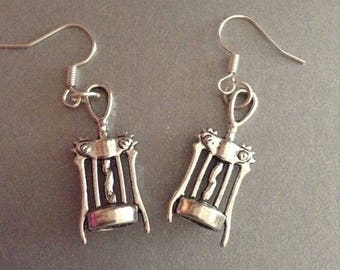"Corkscrew Earrings : ""If Life Gives you Grapes Make Wine!"" Earrings"