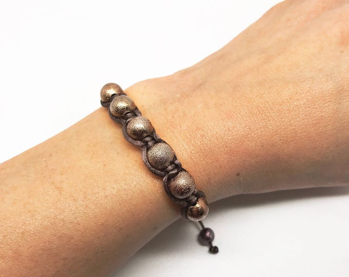 Brown macrame bracelet, macrame bracelet, handmade bracelet, shamballah bracelet , heart bracelet, Adjustable bracelet, Friendship bracelet