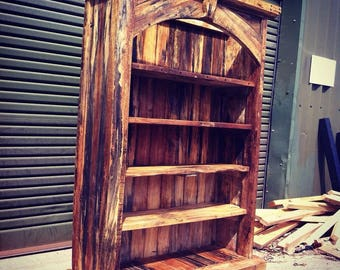 Handcrafted Solid Spalted Mango Bookcase Reclaimed Timber