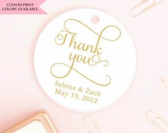 Thank you tags (30) - Wedding thank you tags - Wedding tags - Wedding gift tags - Wedding favor tag