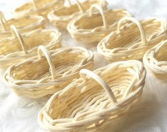MidYear Sale15% Miniatuer Ranttan Basket,Miniature Basket,Dollhouse Basket,Miniature Bamboo Basket,Miniature Wicker Basket,Miniature Basket