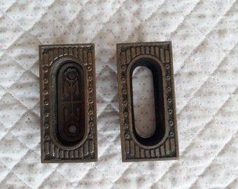 Vintage Cast Metal Window Lifts / Pulls (2) / Restoration Parts