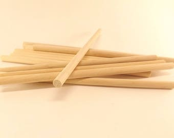 "25 ct Birch Wooden Dowel Rods 1/4"" x 4.5"""