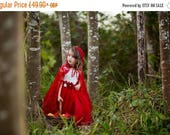 SALE Little Red Riding Hood dress outfit fairy tale dress little red riding hood fairy tale princess costume dress white red birthday tutu