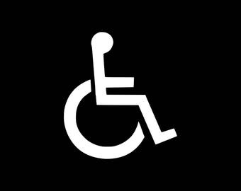 Handicap Decal, Handicap Symbol Sticker Vinyl Decal, Handicap Car Decal