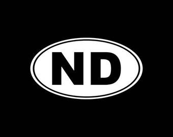 North Dakota Decal,ND State Decal,North Dakota State Decals Stickers Vinyl Die-Cut Car Decals,Home State Decals