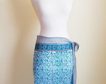 Delicate Dark Blue Handmade Sarong