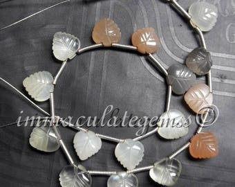 38% DISCOUNT SALE, Moonstone Carved Beads, 8x8 mm, Natural Moonstone Beads, 7 Inch, Moonstone Gemstone, Heart Shape, Carving Beads.