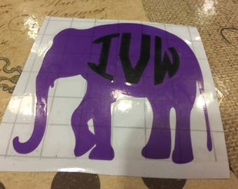 Elephant Decal, Pink Elephant Decal, Wall Decal, Cup Decal, Yeti Cup Decal, Car Decal, Laptop Decal, Nursery Decal