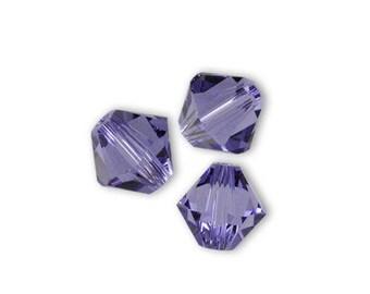 20 Swarovski 4mm tanzanite Swarovski Crystal bicone beads