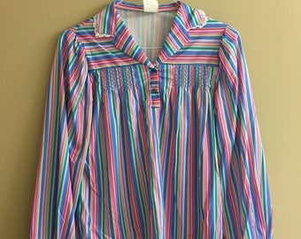 70s striped blouse