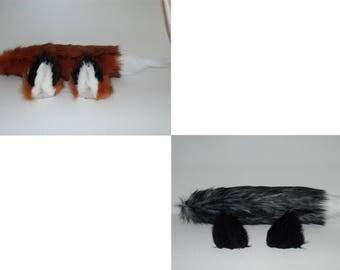 Handmade Fox Ears and Tail Set