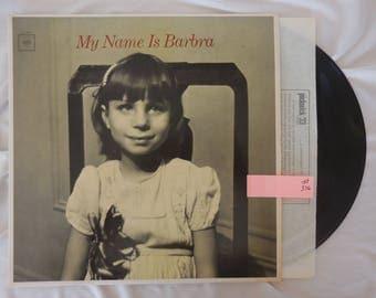 My Name Is Barbra Vinyl LP Record 33 RPM