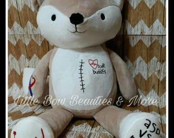 CHD Scar Buddies Stuffed Fox