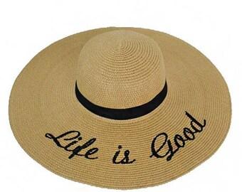Embroidered Beach Sun Hat