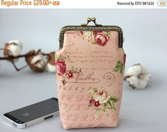 SALE iPhone 7 Plus wallet Rose gold, Floral iPhone 6s plus case Roses phone case iPhone 6 wallet Roses iPhone 7 Wallet Gift for her Bridal s
