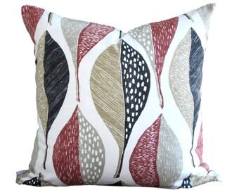 Robert Allen Pillow Cover Woodblock Leaf