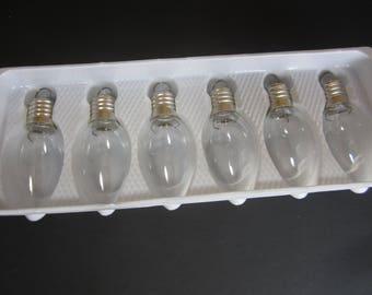 Clear Glass Light Bulb Ornaments (set of 6)