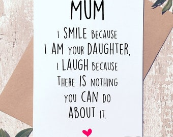 Happy mom day etsy funny mothers day card card for mum card from daughterhappy mothers day m4hsunfo