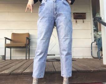 """80s acid wash Lee Jeans 30"""" waist petite"""