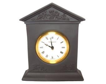 Basalt mantel clock - Wedgwood - swiss movement classical black clock