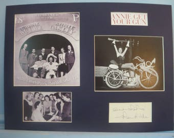Irving Berlin's Broadway Musical - Annie Get Your Gun starring Ethel Merman and autographed by playwright Herbert Fields