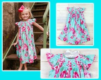 Girls Rose Dress, Girls Easter Dress, Toddler Dress For, Toddler Dress, Easter Dress, Smocked Bishop Dress, Smocked Dress, Easter Smocked