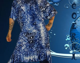 Dress / tunic 'blue snake...'