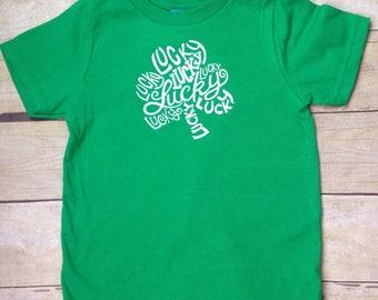 Saint Patrick's Day Lucky Clover Toddler Shirt, St. Patrick's Day, Shamrock Shirt