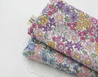 Floral Pattern Cotton Fabric by Yard - 2 Colors Selection