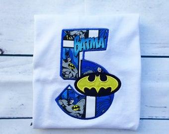 Last Minute Batman Birthday Shirt- Ships Fast!