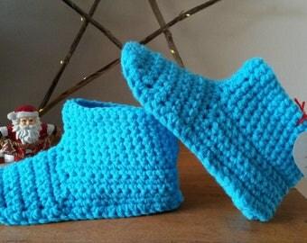 Size 38 crochet slippers