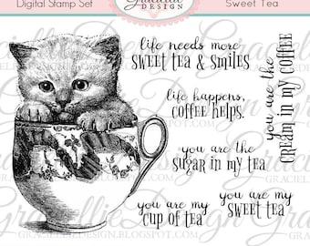 Sweet Tea Digital Stamp Set