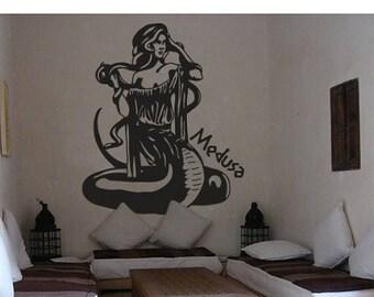 20% OFF Summer Sale Medusa wall decal, sticker, mural, vinyl wall art