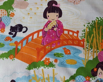 Indochine Cotton Fabric Sold by the yard