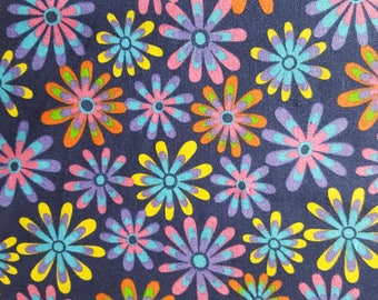 Flower Power Cotton Fabric Sold by the yard