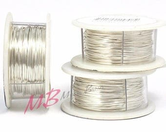 22g Silver Plated Tarnish Resistant Craft Wire, Silver Color Arts And Crafts Wire