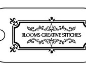 Blooms Creative Stitches Wood Tags