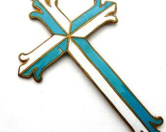 Vintage French Enamel Cross