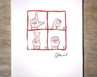 ASL Love Card (#36L)