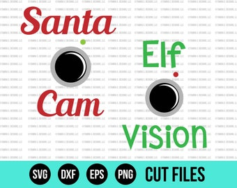 Santa Cam - Christmas SVG Bundle - Santa Camera - Elf Camera - Santa SVG Files - SVG Bundle - Cricut Christmas Svg - Holiday Svg
