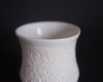 Tea/coffee cup with textured lava glaze, handmade wheel thrown porcelain, elegant and minimalist