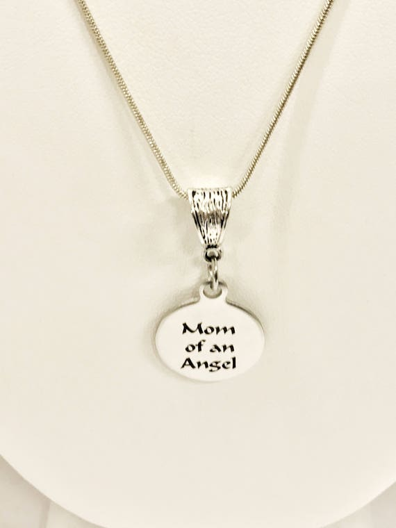 Miscarriage Memorial Necklace, Mom Of An Angel Necklace, Miscarriage Memorial Gift, Miscarriage Necklace, Child Loss Jewelry, Angel Mom Gift