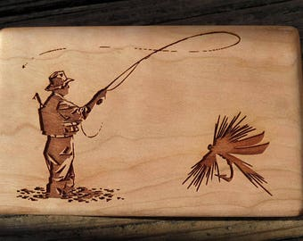 Personalized Fly Fishing Box - Design your own fly fishing box! - 6 Handmade Flies Included!