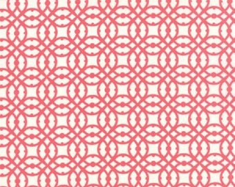 Moda Paradiso Rose Pink Lacy Geometric Fabric  by Kate Spain    #27207 21