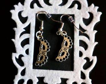 masquerade silver earrings