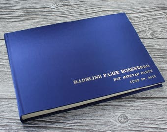 A4 Personalised photo booth guest book – 19 Colours available -  fully bound in satin A4 landscape (297mm x 210mm)
