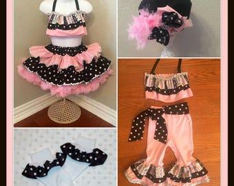 Pageant Semi Glitz Pink Paris set, Pink Paris outfit